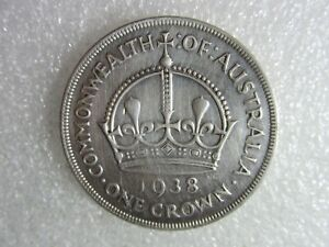 1938   CROWN   1 RARE  COIN   92% silver   NOTING .. noting ..
