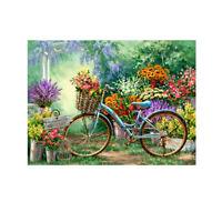 UN3F Bike Flower 5D Diamond DIY Painting Craft Kit Home Decor