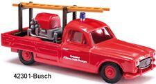 Busch HO 42301-Peugeot 403 pompiers SAINT-GEORGES Nouveau neuf dans sa boîte