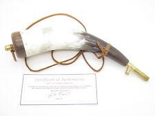 "Handmade John Nelson Idaho 12"" Contemporary Brass Mountain Man Black Powder Horn"