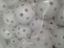 100 Pcs white Airflow Hollow Perforated Plastic JL Golf Practice Training Balls