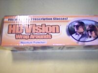HD Vision Wraparounds Sunglasses with HD Vision Visor Clip - As Seen On TV
