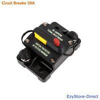 12V 24V Dual Battery Circuit Breaker 50AMP Waterproof IP67 Manual Reset Fuse