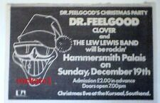 DR FEELGOOD 'Christmas in London' 1976 UK Press ADVERT 12x8 inches
