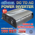 Large Shell Power Inverter M Sine Wave 1000W(2000W Max)12V- 240VAC With Car Plug
