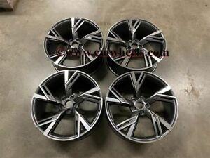 "19"" x4 2020 RS6 Performance Style Wheels Satin Gun Metal Audi A4 A5 A6 A7 5x112"