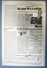 Orig 1932 Dutch Boy Ad Photo Endorsed W. F. Mashin of Southwick Massachusetts