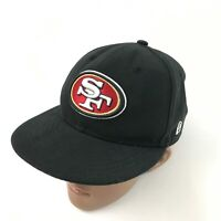 New Era San Francisco 49ers Hat Size 6 3/4 Fitted Black Ball Cap NFL Football