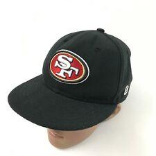 New Era Fitted Hat 6 3/4 Nfl Black Baseball Cap Sf San Francisco 49ers Apparel