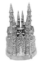 Silver Castle Cake Topper Favor Decoration Wedding Sweet 16 Birthday Baby Shower