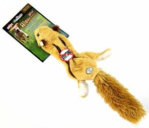 "LM Spot Skinneeez Plush Squirrel Dog Toy 14"" Long"