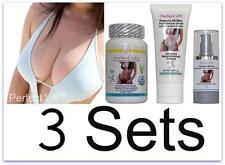 3 Perfect Lift Breast Enlargement PIlls Cream Serum Nano Actives C D Enhancement