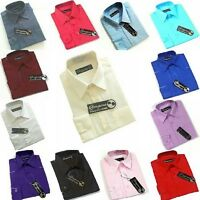 Boys Plain Formal  Longsleeve Button Down Shirts In Various Colours For 0-16Yrs