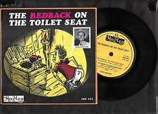 """Slim Newton, Redback On The Toilet Seat, 1972  7"""" EP picture sleeve single 45rpm"""