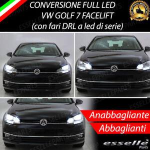 CONVERSIONE FARI A LED VW GOLF 7 FACELIFT RESTYLING ANABBAGLIANTI + ABBAGLIANTI