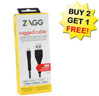 ✔ZAGG MFI Lightning Cable Heavy Duty iPhone 6 7 8 X XR XS MAX Plus Charger Cord