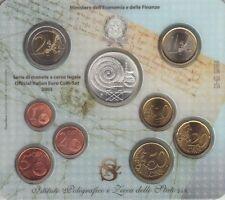 SERIE UFFICIALE 2005  ITALIA IPZS MONETE EURO con  5 EURO ARGENTO