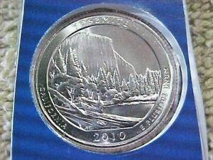 2010 P YOSEMITE QUARTER  UNCIRCULATED  FROM MINT SET IN CELLO