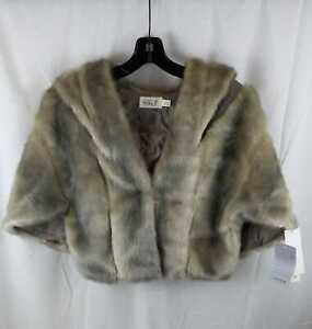 Women's Eliza J Faux Fur Capelet, Size Medium - Grey