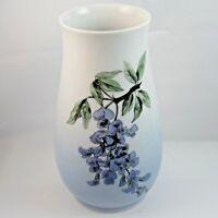 Bing and Grondahl Wisteria Vase 6.75 inch Porcelain Denmark Copenhagen Signed