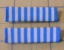 lot of 2 U.S. Military Korean Service UN medal ribbon bars roll pin type