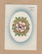 "Vintage Used Christmas Card – ""Greetings from Panama"""