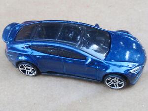 2016 Hot Wheels TESLA MODEL S 242/250 Green Speed LOOSE Blue