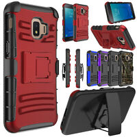 For Samsung Galaxy J2 Shine/J2 2019 MetroPCS Case Hybrid Holster Kickstand Cover
