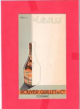 menu Cognac Rouyer Guillet signé Verdier 36
