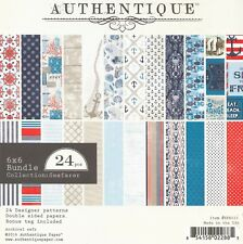 NAUTICAL SEAFARER Collection 6x6 Scrapbooking Paper Pad AUTHENTIQUE SFR015 New