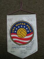 flag pennant usa water polo women's national team authentic autograph signatures
