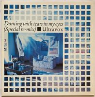 "ULTRAVOX DANCING WITH TEARS IN MY EYES 12"" GATEFOLD SLEEVE + POSTER PRO CLEANED"