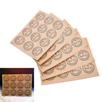 60Pcs Thank You Self-adhesive Stickers Kraft Label Stickers Gifts Labels Paper