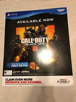 "Call Of Duty Black Ops 4 Xbox PS4 Gamestop Exclusive Promo Poster 24"" x 28"" Game"