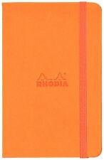 Rhodia #118668 Webnotebook, 5-1/2 x 8-1/4, Orange Cover, Blank