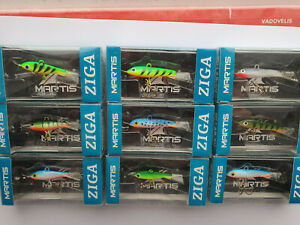 "Ice Fishing Jig Lures Martis ""Ziga"" lot different sizes vertical-balanced 9 pcs"