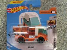 Hot Wheels 2019 #168/250 RIG HEAT orange with white cab @PQ