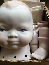Vintage Shackman 1970'S Byelo Style Genuine Bisque Doll Kit Original Box