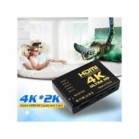 Switch HDMI 2.0 4K Ultra HD 1080p 5 entrées + télécommande Lecteur Blu-Ray Xbox