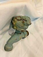 Vintage Bunny Rabbit Brass Metal Water Spigot Faucet