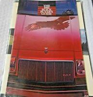The 1985 Buick Buyer's Guide Dealership Brochure Specs Factory