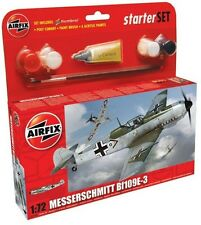 AIRFIX WWII Bf109E3 Fighter Model Kit w/ Paint Glue Brush NEW 55106