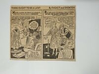 VTG Newspaper Cartoon Comic 9/12/1957 THERE OUGHT TO BE A LAW By Fagaly Shorten