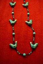 Blue Bird Turquoise Beaded Necklace - Native American Indian