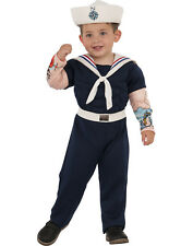 Muscle Man Suit Sailor Navy Uniform Boy Child Halloween Costume