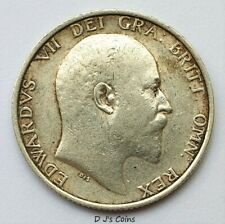 More details for 1907 king edward v11 silver .925 shilling coin. high grade with good detail.