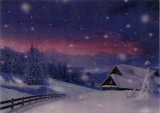 Christmas - It's Snowing - 3D Lenticular Postcard -Greeting Card