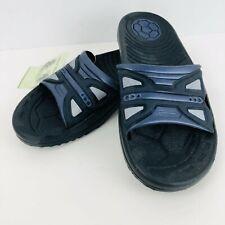 Island Blue Slides Sandals Mens Size12 Black Blue Shoes Slip On