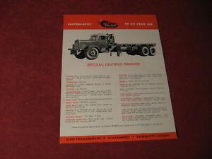 1950's Cline Truck Semi Rig Sales Sheet Brochure Booklet Catalog Book Old