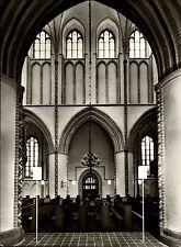 BUXTEHUDE Niedersachsen 50/60er Jahre St. Petri Kirche Echtfoto-AK Innenansicht